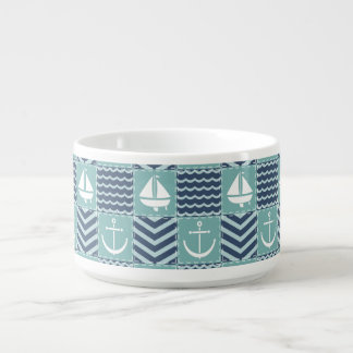 Nautical Quilt Chili Bowl