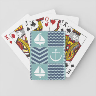 Nautical Quilt Classic Playing Cards
