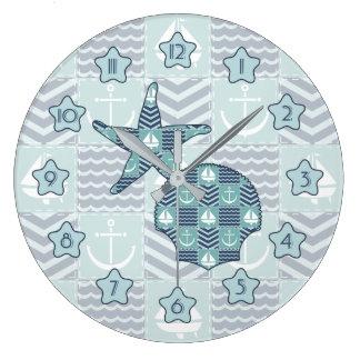Nautical Quilt Clock