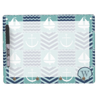 Nautical Quilt Dry Erase Board