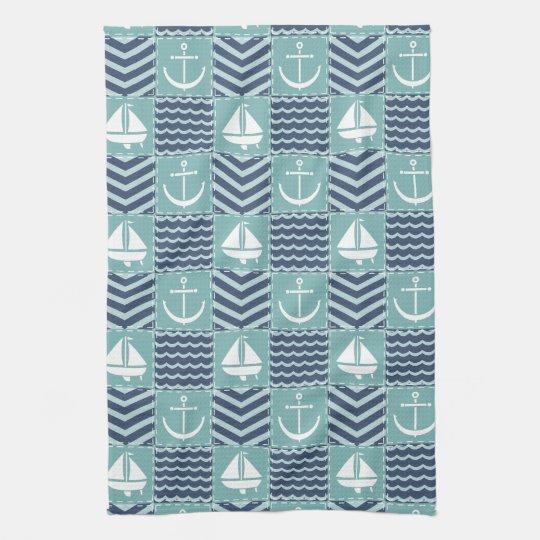 Nautical Quilt Kitchen Towel