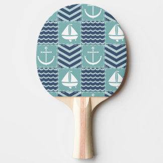 Nautical Quilt Ping Pong Paddle