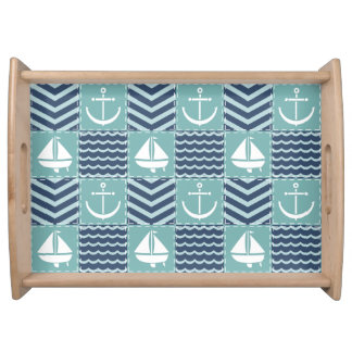 Nautical Quilt Serving Tray