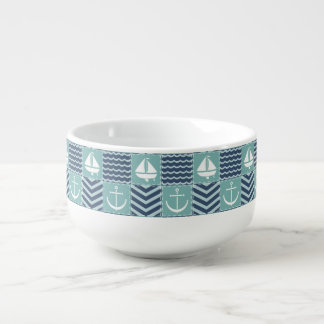 Nautical Quilt Soup Mug
