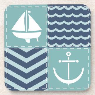 Nautical Quilt Square Coaster
