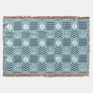 Nautical Quilt Throw Blanket