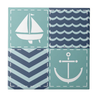 Nautical Quilt Tile