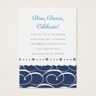 Nautical Reception or Information Card