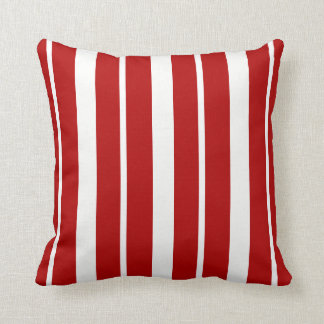 Nautical Red and White Striped ThrowPillow