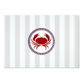 Nautical Red Crab simple RSVP Card