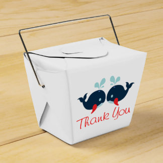 Nautical Red Thank You Navy Blue Whales Wedding Pa Favor Box