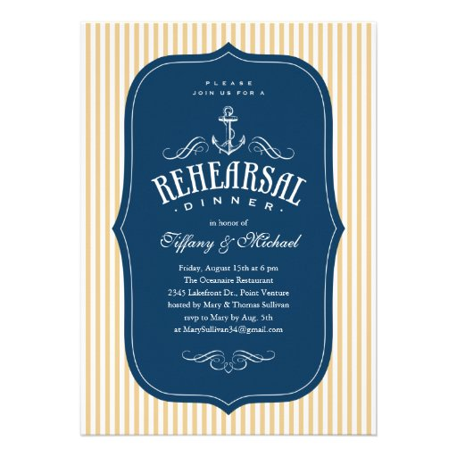 Nautical Rehearsal Dinner Invitations correctly perfect ideas for your invitation layout