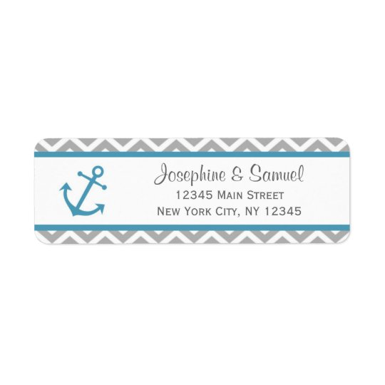 Nautical Return Address Labels Chevron