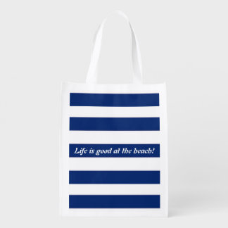 Nautical Reusable Grocery Bag