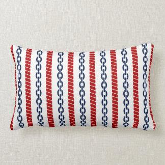 Nautical Rope and Chain Lumbar Pillow