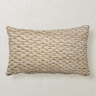 nautical rope design lumbar pillow