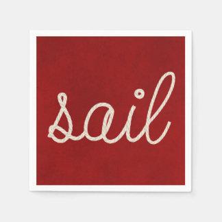 Nautical rope for sail paper napkins