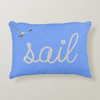 Nautical rope for sailing accent pillow