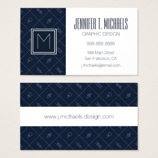 Nautical Rope Knot Pattern Business Card