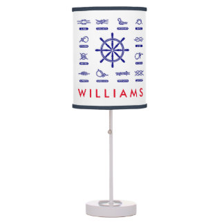 Nautical Rope & Knots   With Your Name Table Lamp