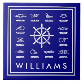 Nautical Rope & Knots | With Your Name Tile