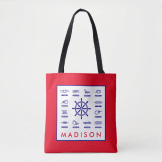 Nautical Rope & Knots | With Your Name Tote Bag