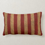 Nautical Rustic Red Stripe Throw Pillows