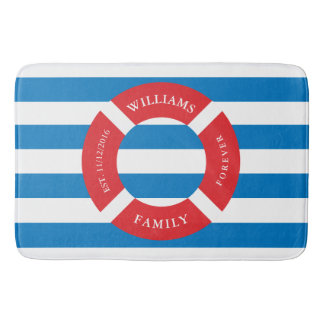 Nautical Safe Circle Monogram Large Bath Mat