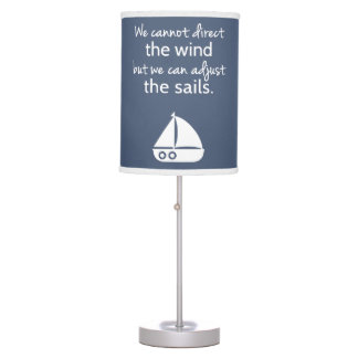 Nautical Sail boat Positive Quote Room Decor Table Lamp