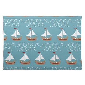 Nautical Sail Boat Print Placemat