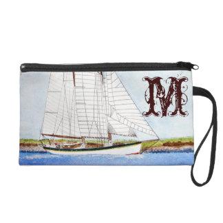 Nautical Sail Boat Sea Ocea Make Up Bag Tote Purse Wristlet