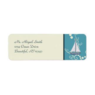 Nautical Sailboat Address Labels