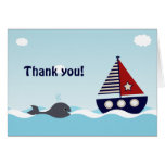 Nautical Sailboat Baby Boy Baby Shower Thank You