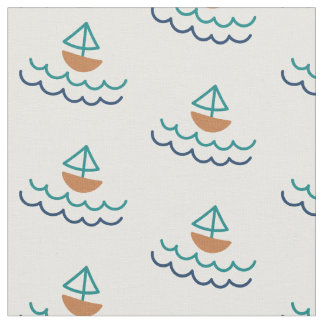 Nautical Sailboat Fabric