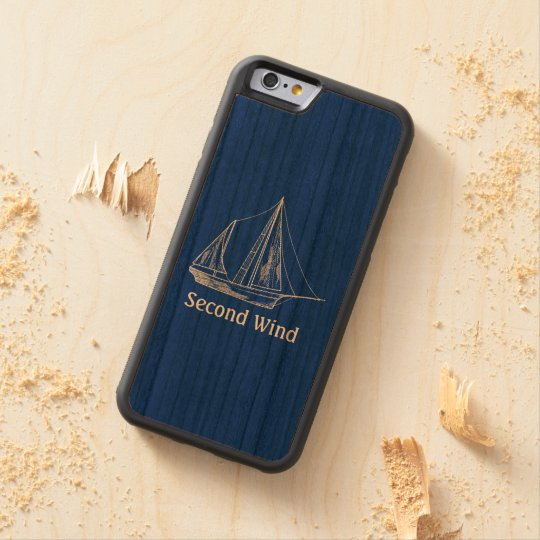 Nautical Sailboat Name Template Wooden Cherry iPhone 6 Bumper