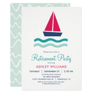Nautical Sailboat Retirement Party Invitation