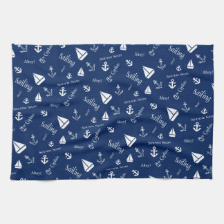 Nautical Sailboat Sailing Themed Cotton Towels