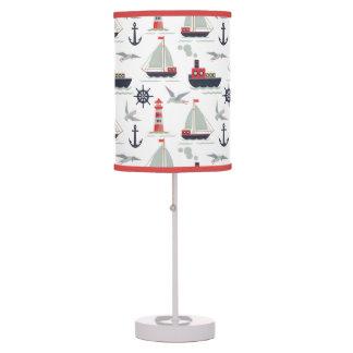 Nautical Sailboat Sailor Baby Boy Nursery Decor Table Lamp