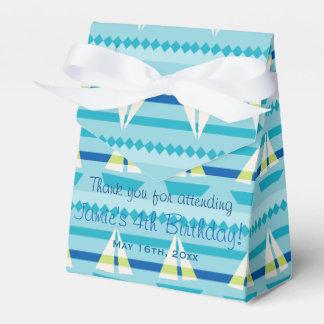 Nautical Sailboats Birthday Wedding Favor Boxes