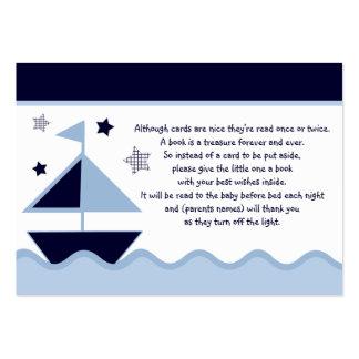 Nautical Sailboats Navy  Favor/Tags Large Business Card