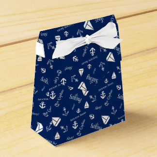 Nautical Sailing Beach Themed Favor Boxes