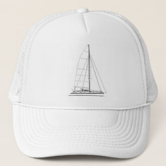 Nautical Sailing inspired Outremer Catamaran Trucker Hat