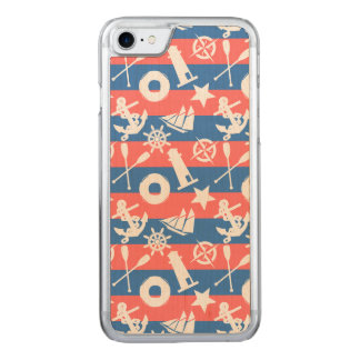 Nautical Sailing Pattern Carved iPhone 8/7 Case