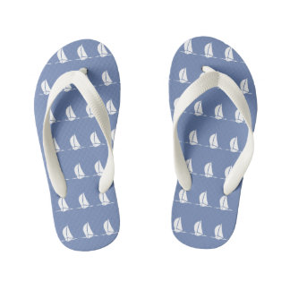 Nautical Sailing Pattern Kid's Flip Flops