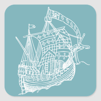 Nautical Sailing Ship Stickers