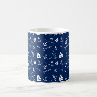 Nautical Sailing Theme Coffee Cup
