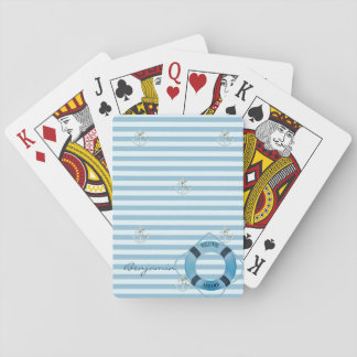 Nautical Sailor Lifebelt,Anchor- Personalized Playing Cards