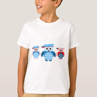 Nautical Sailor Owls T-Shirt