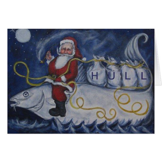 Nautical Santa Hull Card