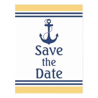 Nautical Save the Date Postcard